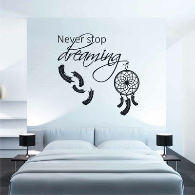 Stickers Chambre Never Stop Dreaming