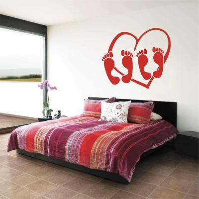 Stickers Coeur Pieds Chambre