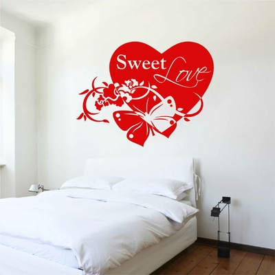 Stickers Coeur Sweet Love Chambre