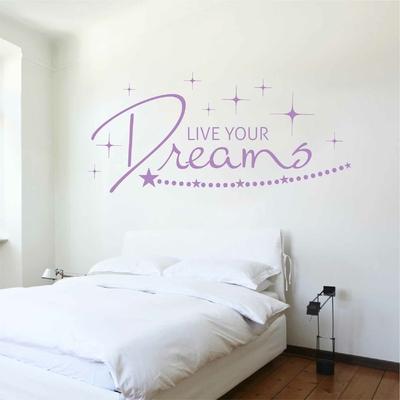 Stickers Live your Dreams Chambre