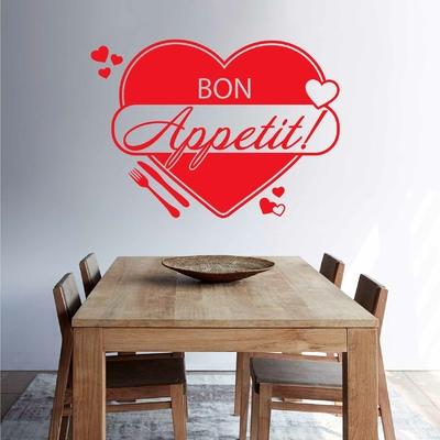 Stickers Bon Appetit Coeur