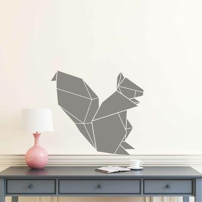 Stickers Ecureuil Origami