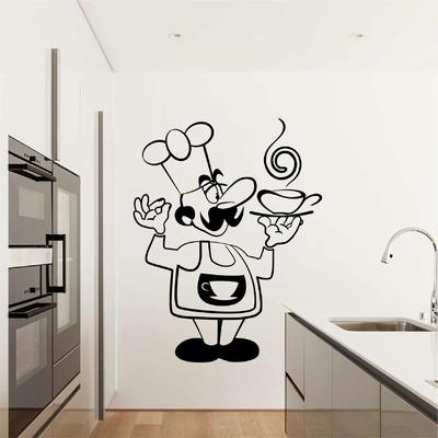 Stickers Cuisine Chef Dessin