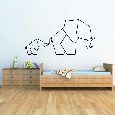 Stickers Elephant Origami