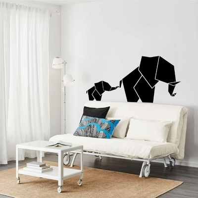Stickers Elephant Origami inverse