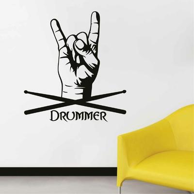 Stickers Batteur Drummer