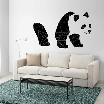 Stickers Panda Origami silhouette