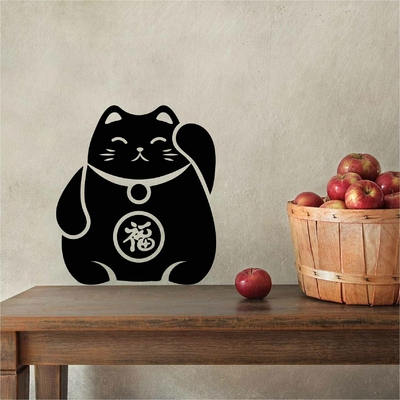 Stickers Chat porte bonheur Maneki Neko