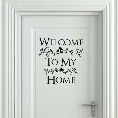 Stickers Porte Welcome to my home