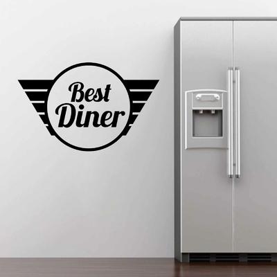 Stickers Best Diner panneau vintage