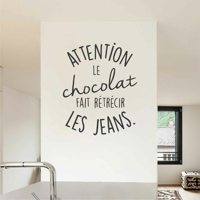 Stickers Citation Chocolat Jeans