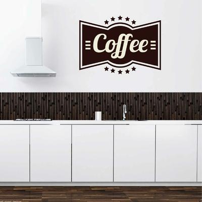 Stickers Coffee panneau vintage