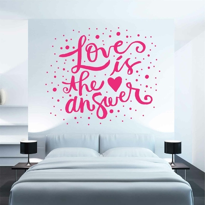 Stickers Citation Love is the answer