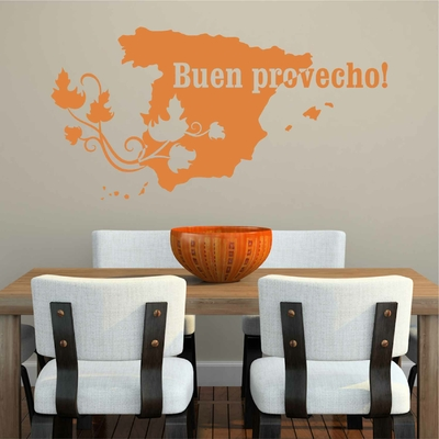 Stickers Buen Provecho Espagne