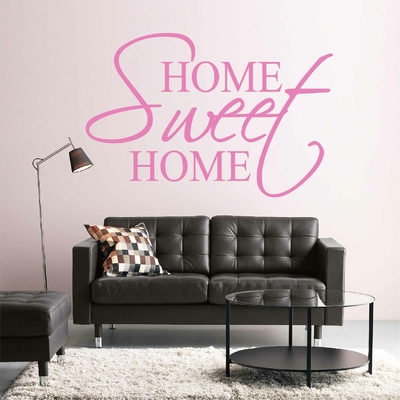 Stickers Home Sweet Home salon