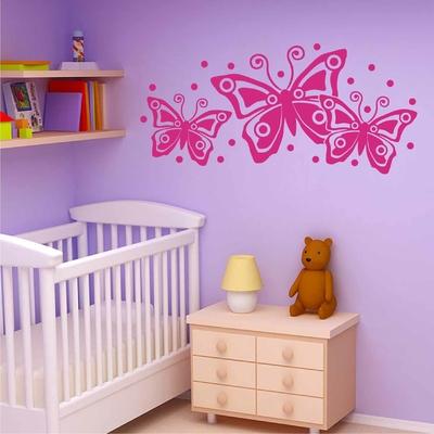 Stickers Chambre bébé Papillon