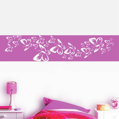 Stickers Muraux Papillons Roses