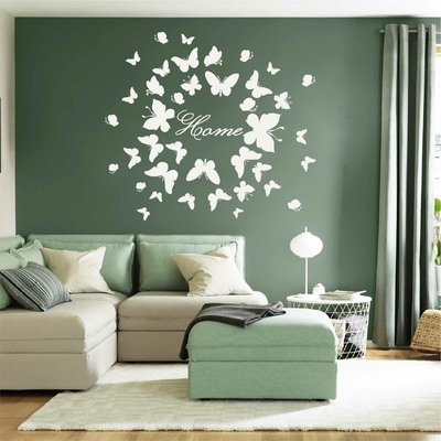 Stickers Papillons Blancs