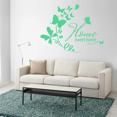 Stickers Papillon Home Sweet Home