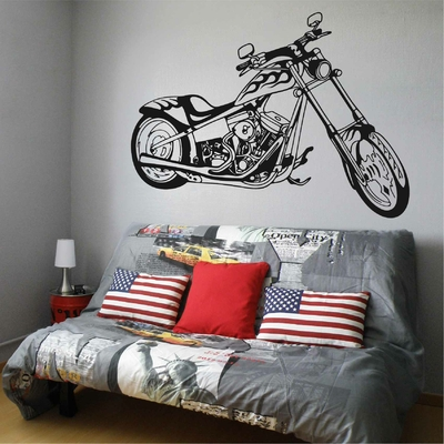 Stickers Moto Chopper Flamme
