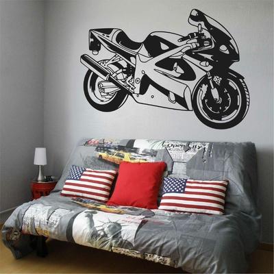 Stickers mural Moto