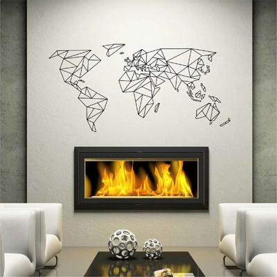 Stickers Carte du Monde Origami