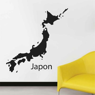 Stickers Carte Japon