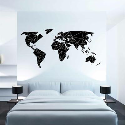 Stickers Carte du Monde Origami inverse