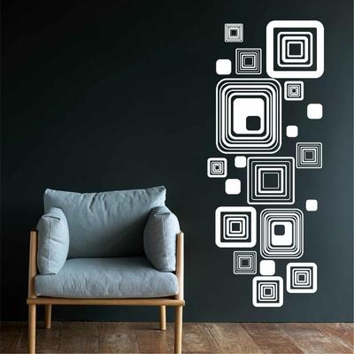 Stickers Retro forme carrés
