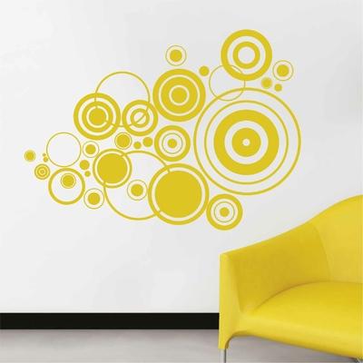 Stickers Retro forme cercles