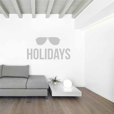 Stickers Holidays lunettes soleil vacance