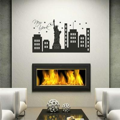 stickers new york autocollant muraux et deco voyage. Black Bedroom Furniture Sets. Home Design Ideas