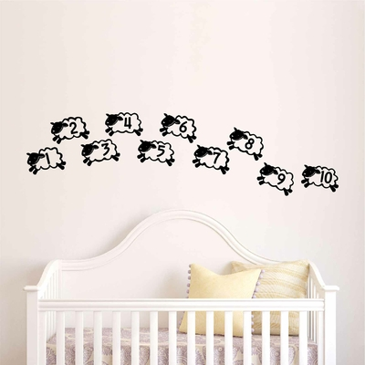Stickers Moutons compte