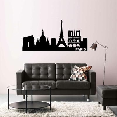 Stickers Paris Skyline monuments