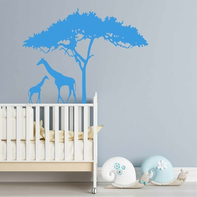 Stickers Famille Girafe