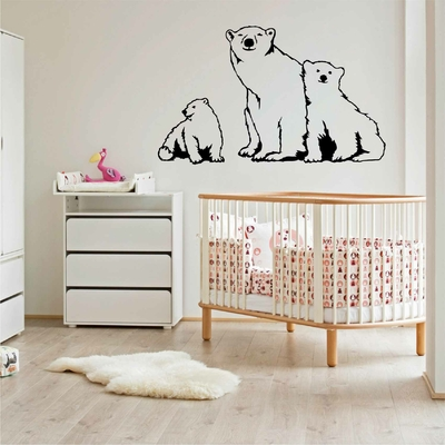 Stickers Famille Ours