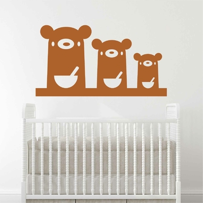 Stickers Famille Ours Soupe