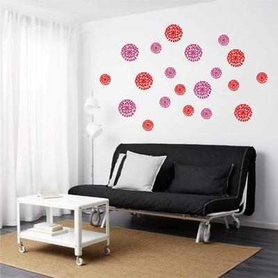 Stickers Fleurs coeurs