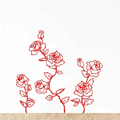 Stickers Muraux Fleurs rose