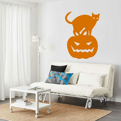 Stickers Chat Citrouille Halloween