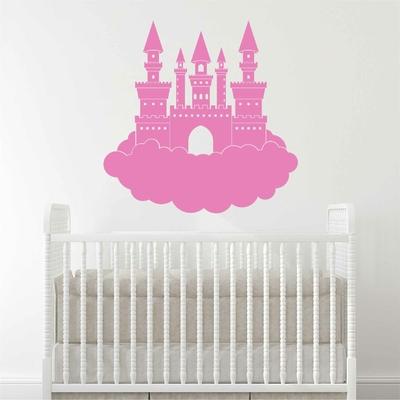 Stickers Chateau Princesse nuage