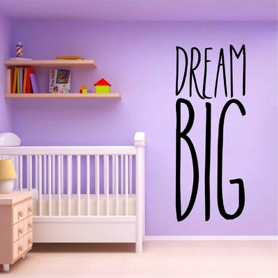 Stickers Citation Enfant Dream Big