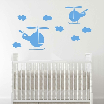 Stickers Helicoptere Chambre enfant