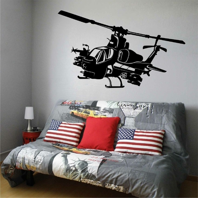 Stickers Helicoptere Combat