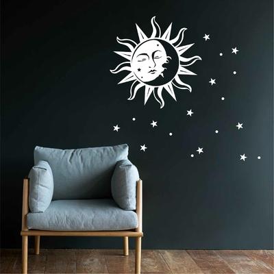 Stickers Lune Soleil et etoiles