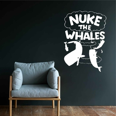 Stickers Nuke the whales Simpsons
