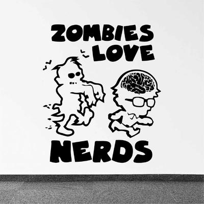 Stickers Zombie Love Nerds