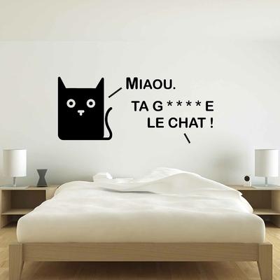 Stickers ta gueule le chat