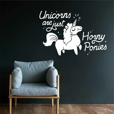 Stickers Unicorn are horny Ponies