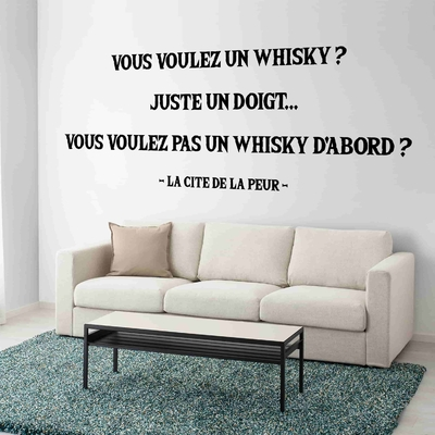 Stickers Citation Cité de la peur whisky doigt